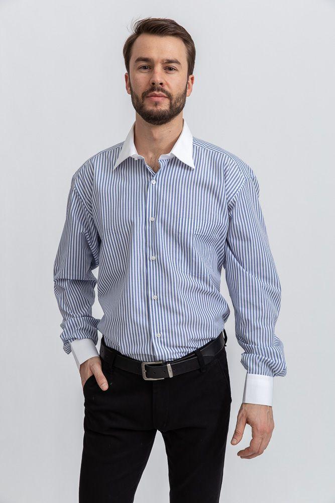 Рубашка 113RPia59 цвет Бело-синий