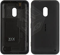 Задняя крышка батареи для Nokia Lumia 620, c боковыми кнопками, оригинал (черный)
