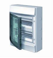 Шкаф Mistral65 настенного монтажа (наружный) прозрачные двери 24M с винтовыми N/PE клеммиками 22 подкл.