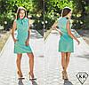 Ментоловое платье 15519