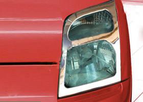 Накладки на фары (2 шт, нерж.) Ford Connect 2006-2009 гг.