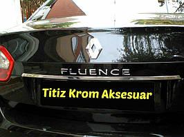 Полоска над номером (нерж.) Renault Fluence 2009↗ гг.