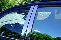 Молдинг дверных стоек (нерж.) Volkswagen Passat B6 2006-2012 гг.