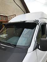 Козырек на лобовое стекло (черный глянец, 5мм) Mercedes Sprinter 1995-2006 гг.