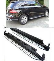 Боковые пороги Оригинальный дизайн (2 шт., алюминий) Mercedes GLE/ML klass W166