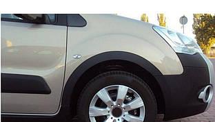 Накладки на арки (4 шт, черные) Citroen Berlingo 2008-2018 гг.