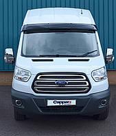 Козырек на лобовое стекло (черный глянец, 5мм) Ford Transit 2014↗ гг.