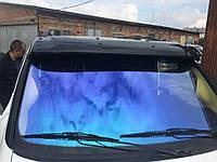 Козырек на лобовое стекло (черный глянец, 5мм) Mercedes Vito W638 1996-2003 гг.