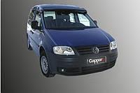 Козырек на лобовое стекло (черный глянец, 5мм) Volkswagen Caddy 2004-2010 гг.