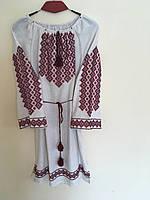 Сукня жіноча сірий льон ручна робота розмір 54, фото 1