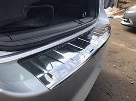 Накладка на задний бампер Carmos (SW, нерж) Volkswagen Passat B7 2012-2015 гг.