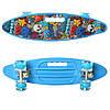 Скейт Пенні борд MS 0461-2 блакитний колеса ПУ, що світяться