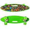 Скейт Пенні борд MS 0461-2 салатовий колеса ПУ, що світяться