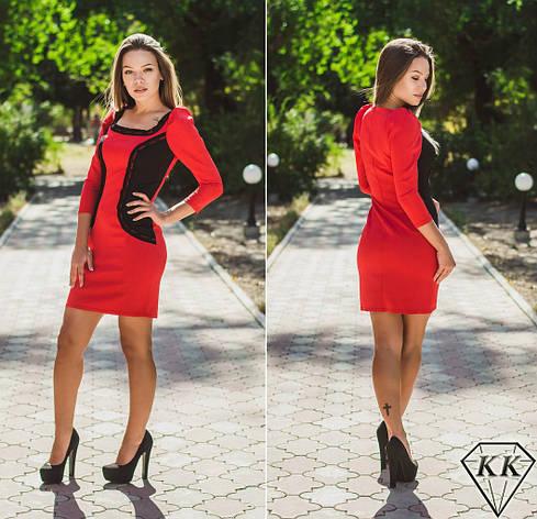 Красное платье 15518, фото 2