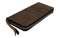 Кошелек мужской кожаный клатч большой travel SULLIVAN  kmk62-2(19.5) оливковый