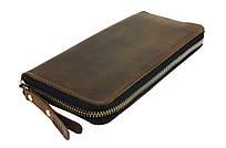 Кошелек мужской кожаный клатч большой travel SULLIVAN  kmk63-2(19.5) оливковый