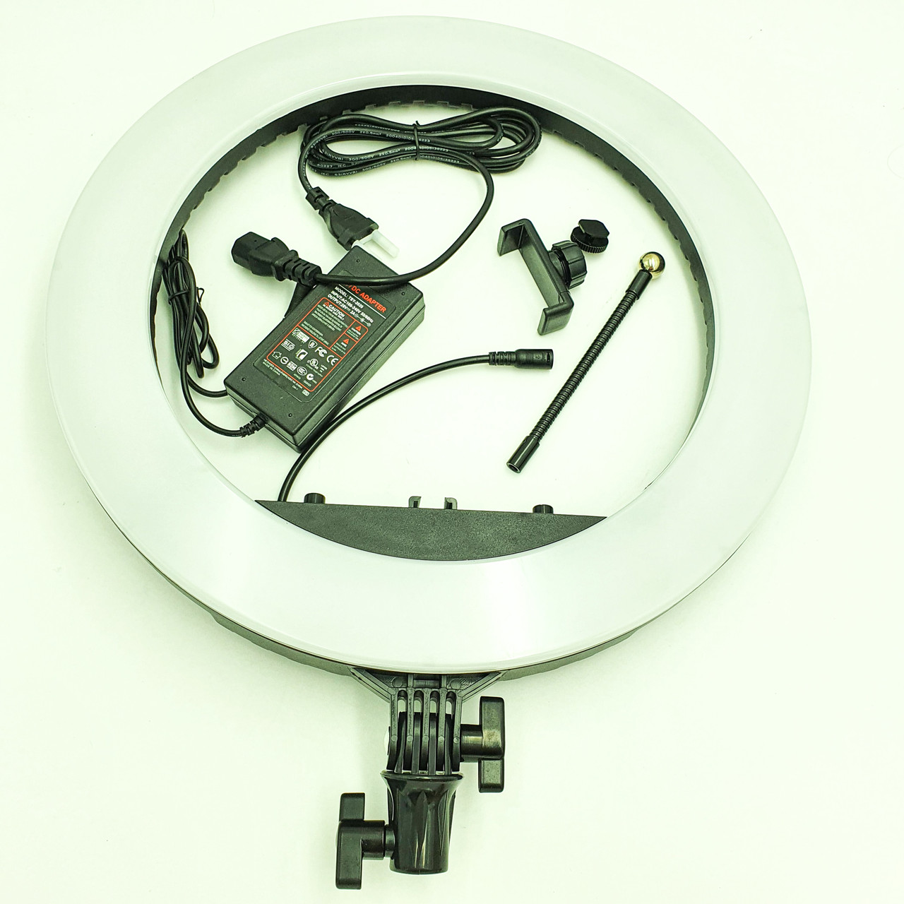 Кільцева LED лампа 45 см 55W з тримачем для телефону селфи кільце блогера регулювання яскравості і температури