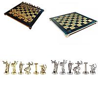 Шахматы MANOPOULOS Геркулес в деревянном футляре 4.8 кг 36х36 см