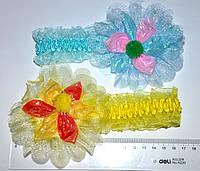 Детские повязки на голову - c цветком (12 шт)