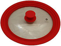 Крышка универсальная Vitrinor Spain Red 24/26/28 см стеклянная с силиконовым ободком