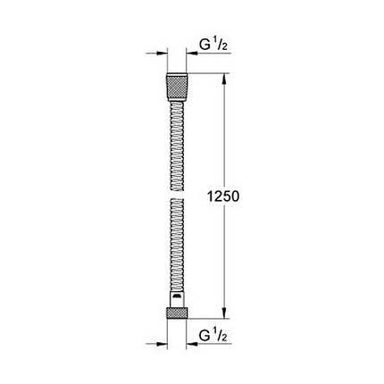 Шланг для гигиенического душа Grohe Relexaflex Metal Longlife 28142000, фото 2