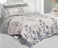 Комплект постельного белья Nazenin Anita Bej Евро Сатин 200х220 см Серый