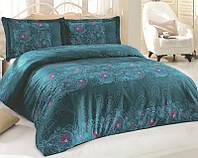 Комплект постельного белья Nazenin Ivory Евро Сатин 200х220 см Зеленый