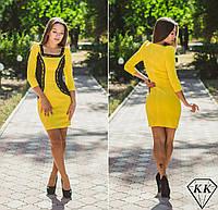 Желтое платье 15518