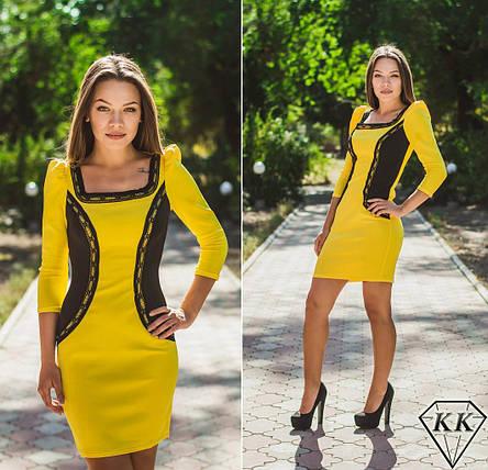 Желтое платье 15518, фото 2