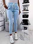 Женские брюки, креп - дайвинг, р-р 42-44; 44-46 (небесно-голубой), фото 5