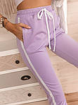 Женские брюки, креп - дайвинг, р-р 42-44; 44-46 (лиловый), фото 3