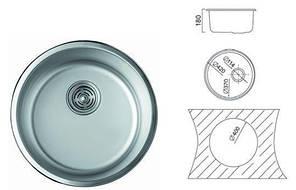 7101 Мийка Cristal кругла врізна 420x180 SATIN, фото 2