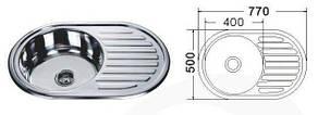 MR 7750 Мойка круглая с полкой ( кепка) 770х500х180 Decor, фото 2