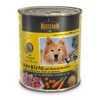 Консерва BELCANDO (Белькандо) для собак курица и утка с пшеном и морковью, 0,8 кг