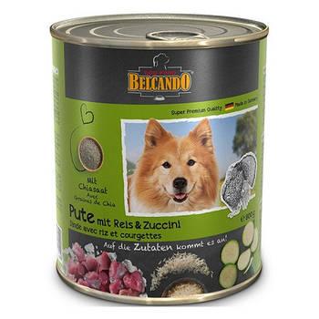Консерва BELCANDO (Белькандо) для собак индейка с рисом и цукини, 0,8 кг