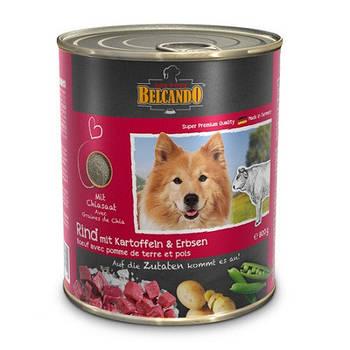 Консерва BELCANDO (Белькандо) для собак говядина с картофелем и горохом, 0,8 кг