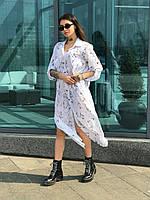 Легкое летнее платье рубашка, фото 1