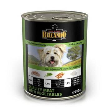 Консерва BELCANDO для собак отборное мясо с овощами, 0,4 кг