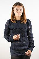 Кофта женская вязаная темно-синяя 46-48 AL16