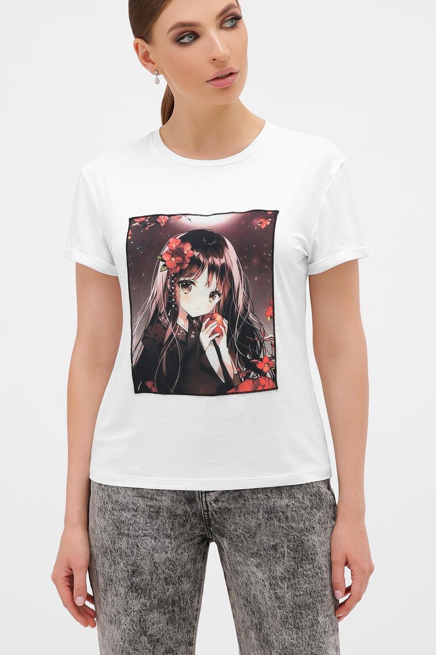 Жіноча футболка з дівчинкою