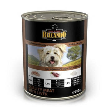 Консерва BELCANDO для собак отборное мясо с печенью, 0,8 кг