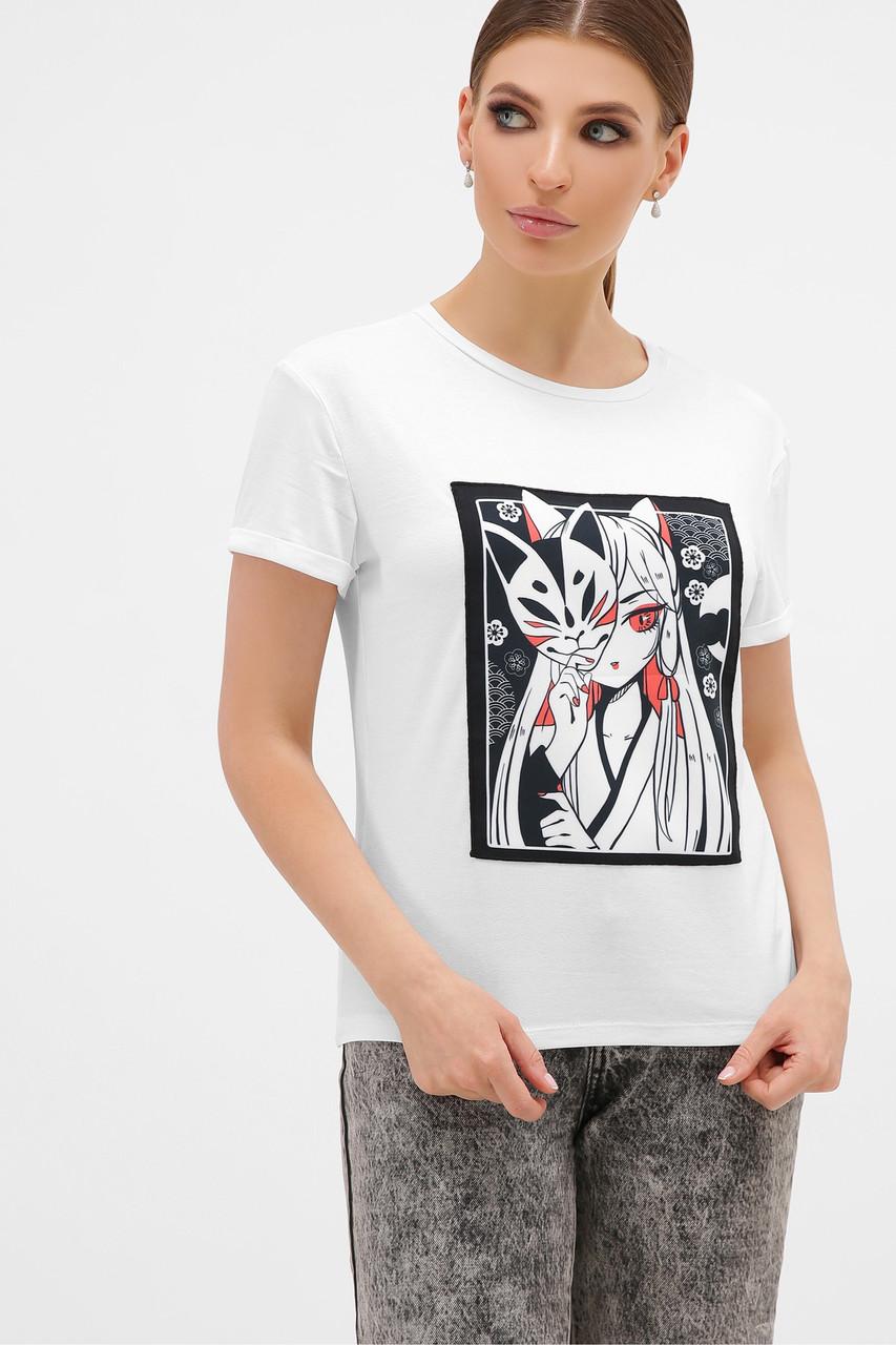 Женская футболка с маской
