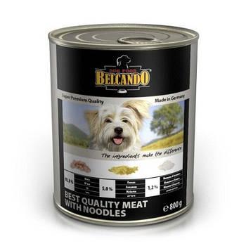 Консерва BELCANDO для собак отборное качество мяса с лапшой, 0,8 кг