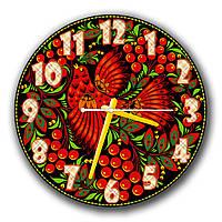 Красивые часы на стену круглые Erpol Птица диаметр 30 см