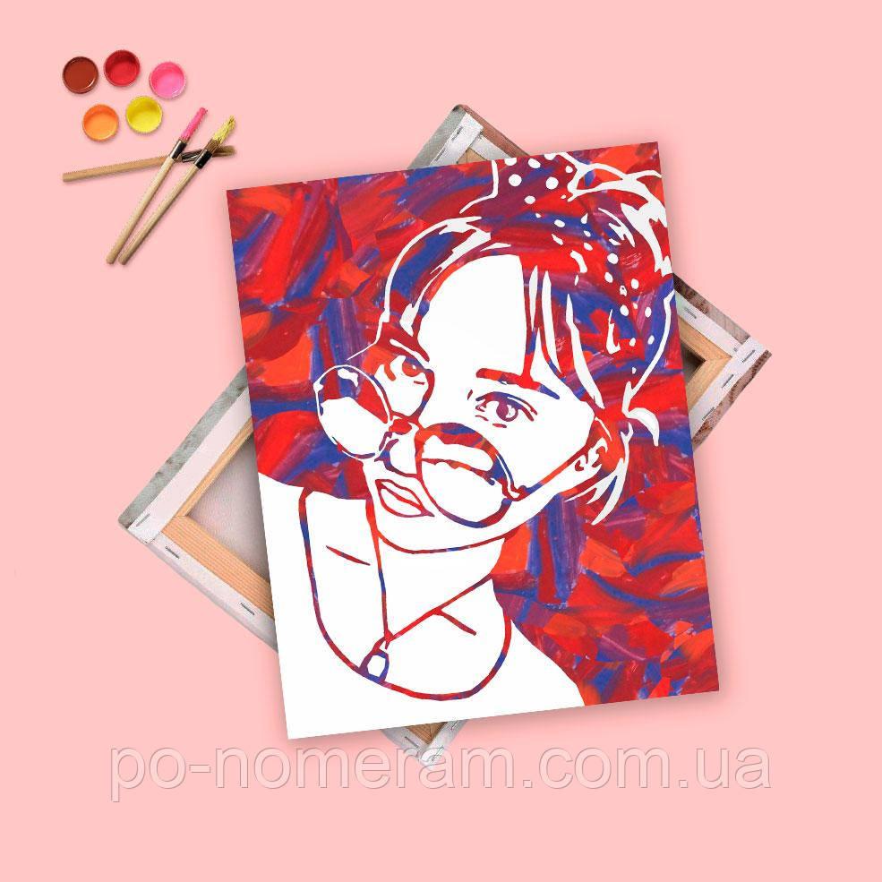 Заказать портрет по фото flip-flop, холст 55х70 см