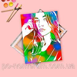Картина флип-флоп - портрет из фотографии, размер 30х40 см