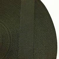 Лента ременная 100% Полиамид 40мм цв хаки (боб 50м) р 3451 Укр-б
