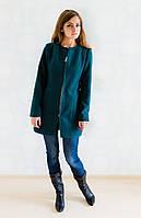 Молодежное кашемировое пальто на молнии