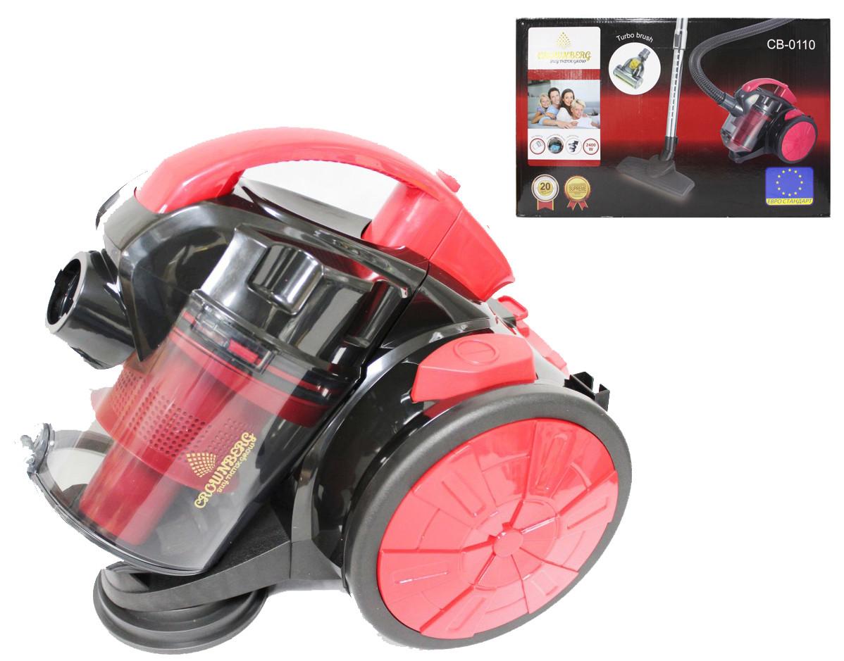 Колбовый пылесос с турбощеткой Crownberg CB-0110 2400W