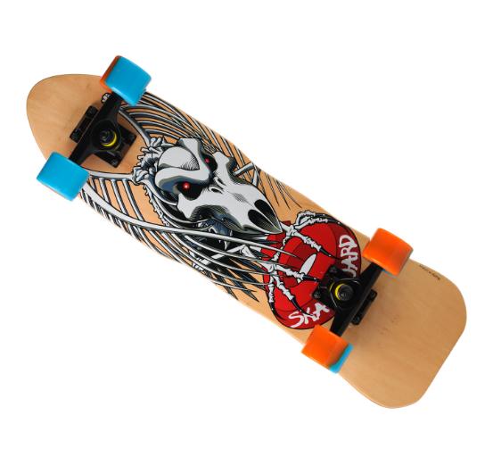 Скейтборд 823 | Наждак с PU колесами | Стервятник